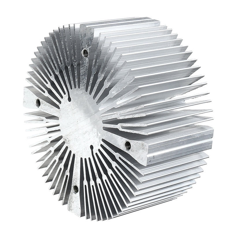 CLAITE 6063 Aluminium 90*40mm Round Shape <font><b>Heatsink</b></font> for 20W 30W 50W <font><b>100W</b></font> High Power LED Bead Surface inner 4 Holes image