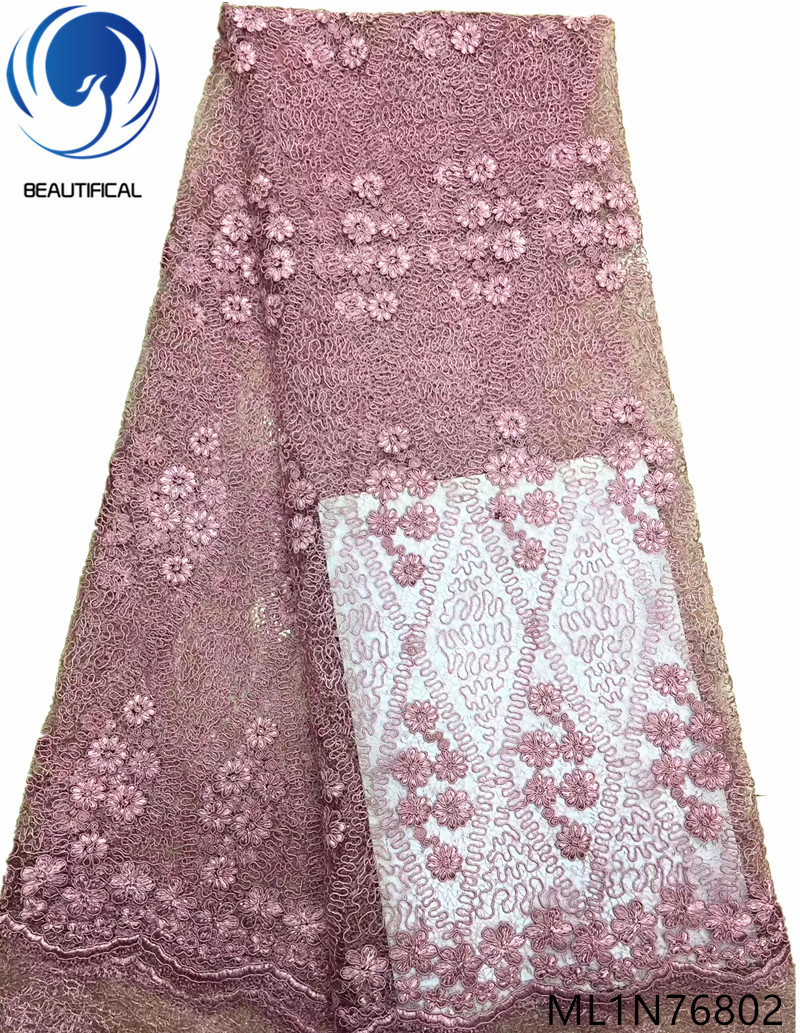 Beautifical french tulle lace fabrics 2019 high quality laces fabrics net lace fabrics for wedding 5yards/lot ML1N768Beautifical french tulle lace fabrics 2019 high quality laces fabrics net lace fabrics for wedding 5yards/lot ML1N768