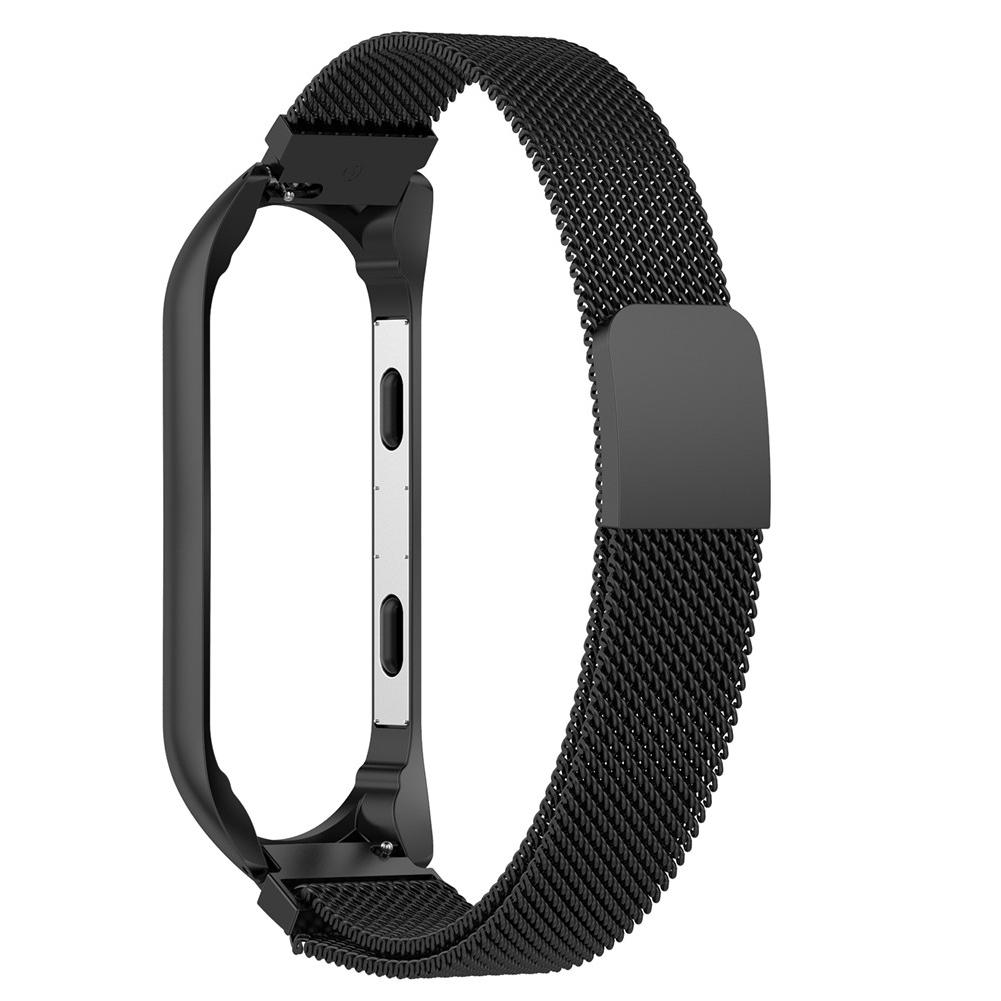 Image 5 - Magnetic Milanese Stainless Steel Watch Band Luxury Wrist Strap For MiBand 3 Smart Bracelet Screwless Easy To Install And Remove-in Smart Accessories from Consumer Electronics