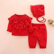 Conjunto de ropa para bebé recién nacido, ropa de algodón de manga larga para niña de 0 a 3 meses