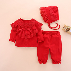 Image 1 - new born baby clothes set girl fall long sleeved cotton 0 3 months little girls clothing sets toddler newborn baby girl clothes