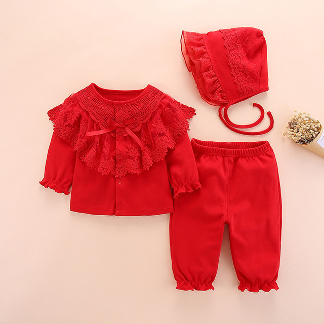 new born baby clothes set girl fall long sleeved cotton 0 3 months little girls clothing sets toddler newborn baby girl clothes