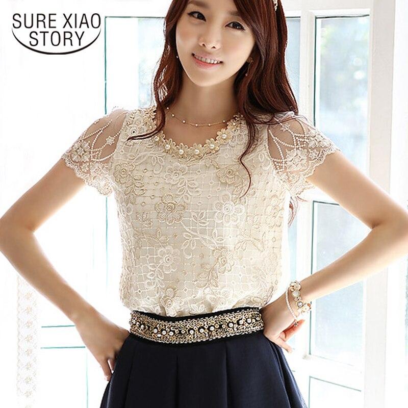 2019 moda feminina elegante miçangas rendas bordadas as partes superiores formais e blusas com flores são feminino s/m/l/xl/xxl 3381