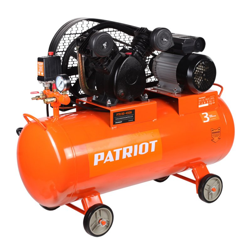 Compressor electric PATRIOT PTR 80-450A portable air compressor electric pump with barometer