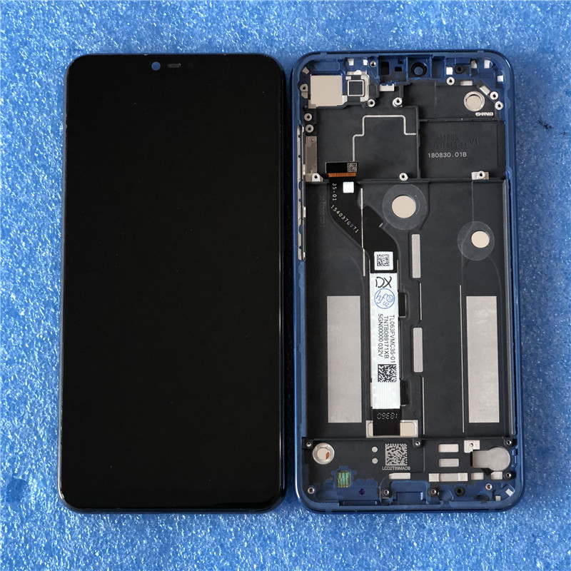 Original For Xiaomi Mi 8 Lite Axisinternational LCD Screen Display With Frame Touch Panel Digitizer For