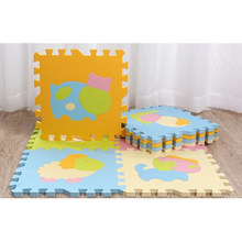 9pcs Cute Animal EVA Foam Mats Floor Puzzle Crawling Play Game for Baby Kids Children Toddlers Mat (Random Color)(China)