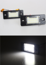 MZORANGE 1 Pair LED Car Number License Plate Lamps Lights for Porsche Cayenne VW Touareg