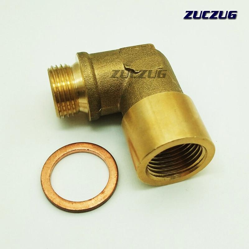 ZUCZUZG 90 grad M18x 1,5 O2 Lambdasonde Lambdasonde Extender Spacer Für Decat Wasserstoff Messing
