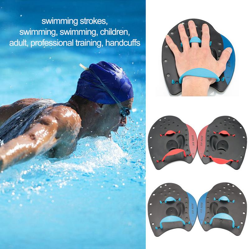 Children Kids Adults Professional Swimming Hand Flippers Adjustable Training