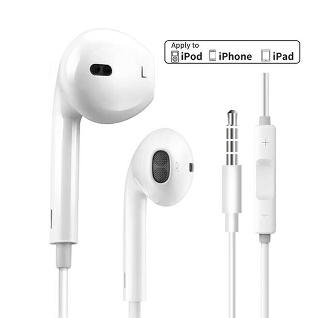 0d5924ce6a3 Auriculares originales Apple Lightning y auriculares de 3,5mm Plug para  iphone se, 5S