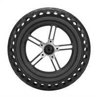8.5 Polegada pneus sólidos de amortecimento oco cubo de roda não-pneumático e conjunto de pneus à prova de explosão para xiaomi mijia m365 scoote elétrico
