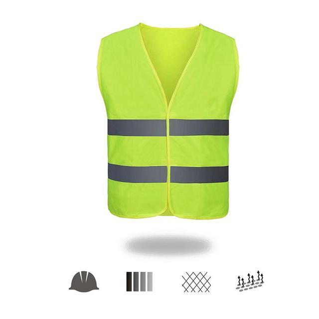 Unisex Car Motorcycle Reflective Safety Clothing High Visibility Safety Reflective Vest Warning Coat Reflect Stripes Tops Jacket