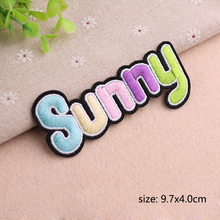Slogan Banner Embroidered Applique Sewing Iron On Badge Clothes Garment Apparel Accessories DIY clothes