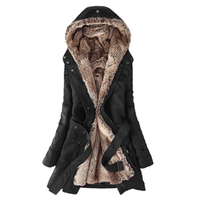 Try Everything Long   Parkas   Women 2018 Black Fur Hood Coat Winter Women Plus Size Warm Womens Winter Jackets And Coats Ladies
