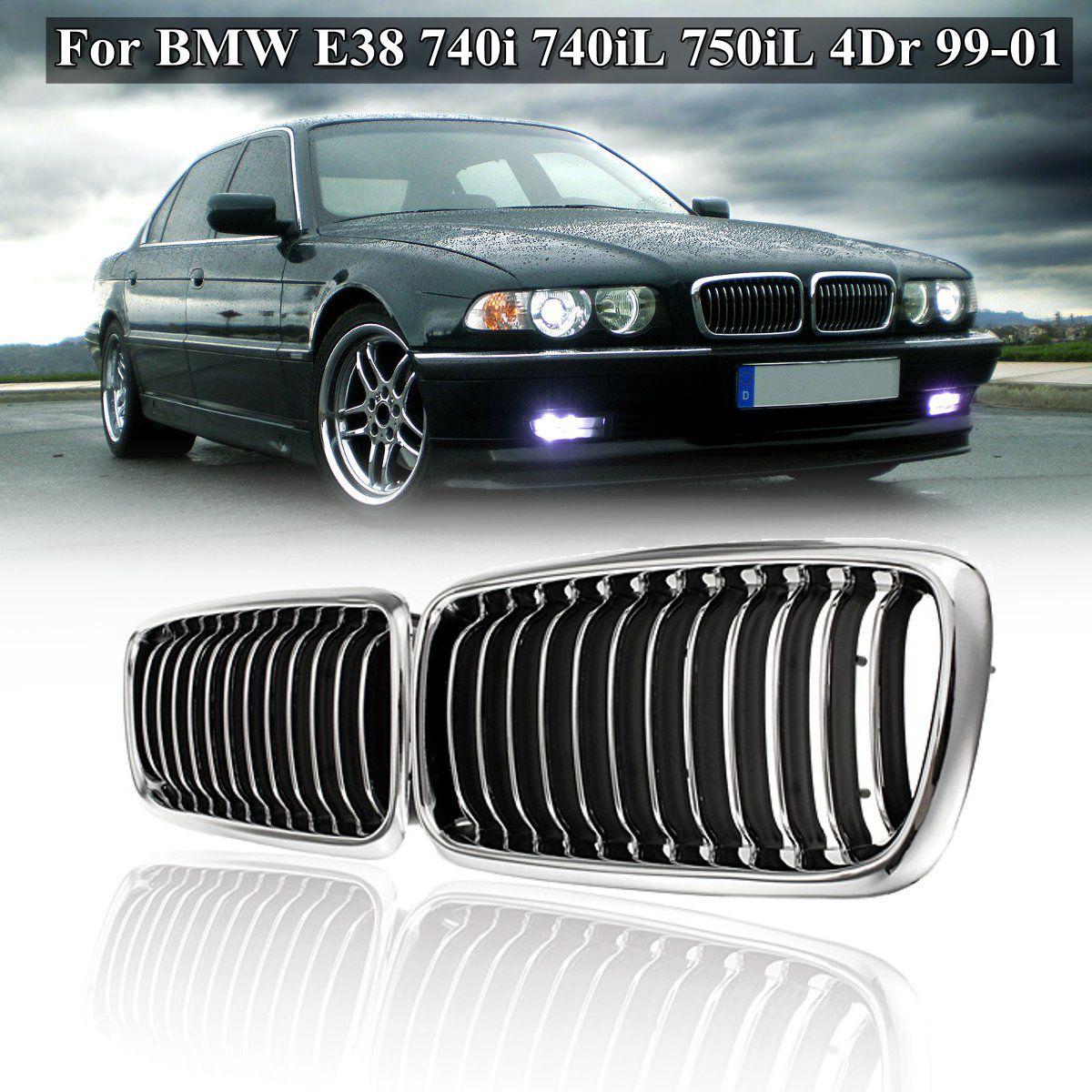 For 740iL 95-01 Center Bumper Trim Rear Black