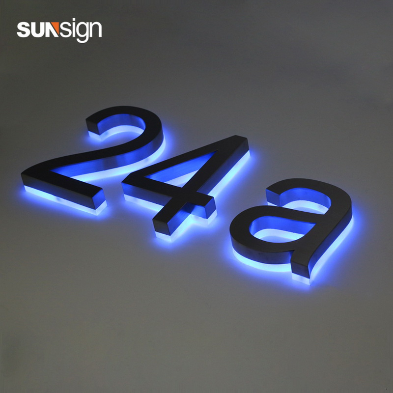 Shanghai Wholesale LED Diy 3D Reverse Channel Halo Lit Letters