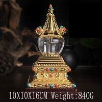 Buddha Tibet Tibetan Buddhist Mikky Crystal Stupa Tower Divine Focus Ritual