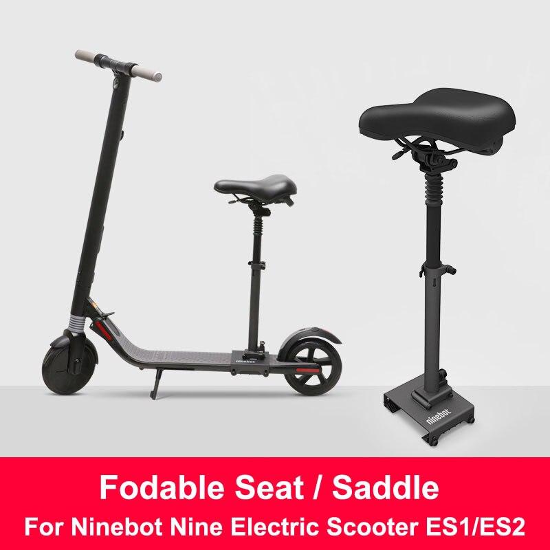 Original ES1/ES2 Electric Scooter Seat Foldable Saddle Scooter Chair Electric Scooter Seat Height Adjustable Seat for ES1/ES2