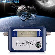 FORNORM Localizador de señal Digital DVB T, receptor de televisión con brújula, medidor de intensidad de puntero de antena vía satélite