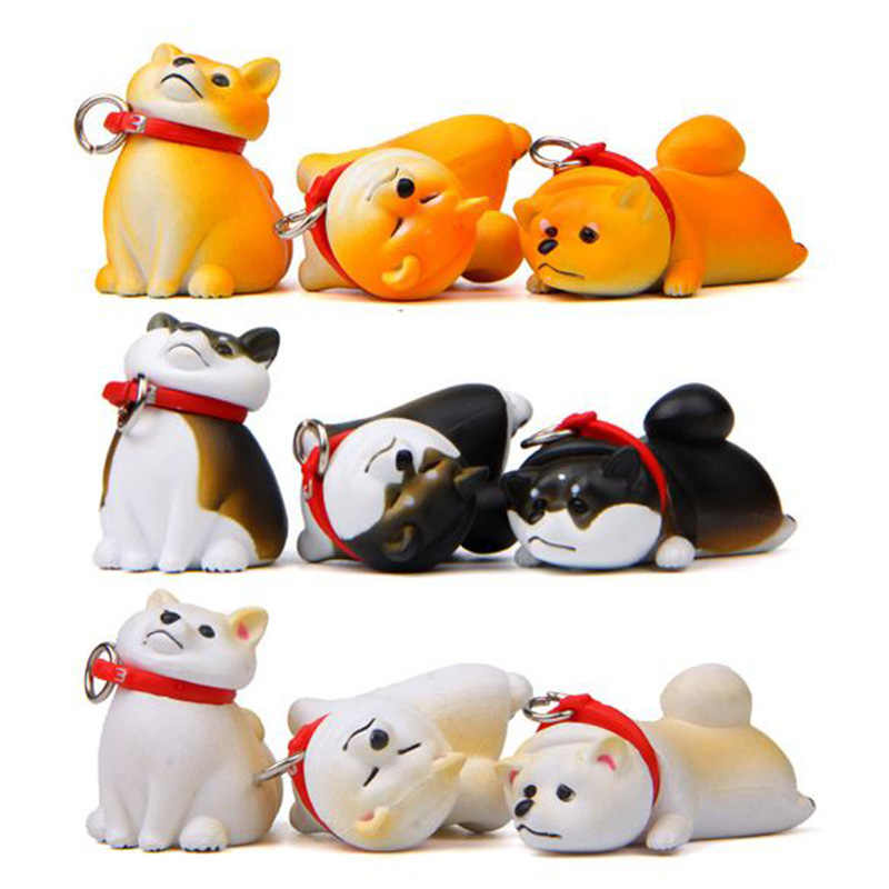 1 Pc Lovely Animal Dog Action Figure Toy Shiba Inu DIY PVC Craft Ornament Model Doll
