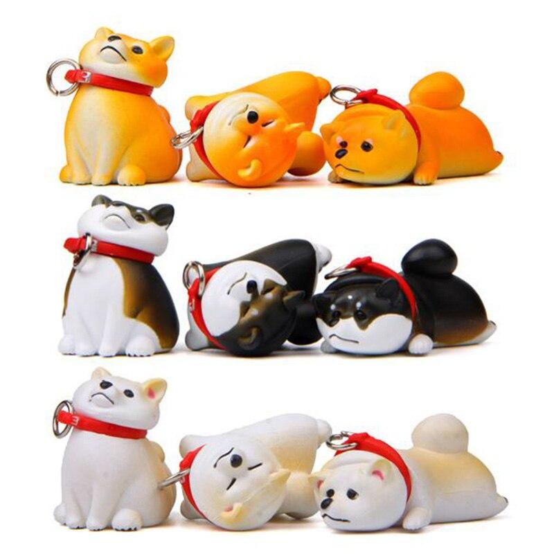 1 Pc Lovely Animal Dog Action Figure Toy Shiba Inu DIY PVC Craft Ornament Model Doll