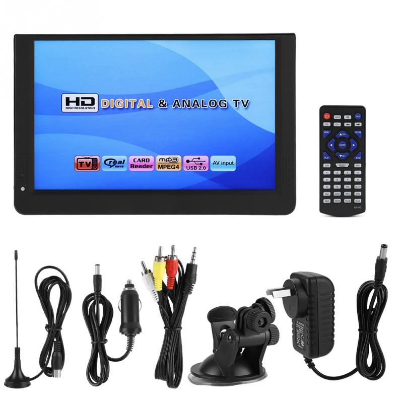 LEADSTAR 12 inch Television DVB T T2 Stereo Surrounding 1280 800 Car Digital TV ATV UHF
