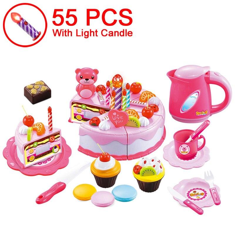 37-80pcs DIY sadje rezanje pretvarjajte se rojstnodnevno torto - Igra igranja vlog - Fotografija 4