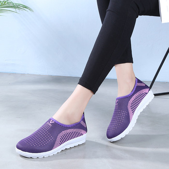 Factory Outlet Breathable Mother Slip-On Shoes Woman Cheap Outdoor Fashion Sneakers Women Flat Shoes Women Ladies Summer Loafers
