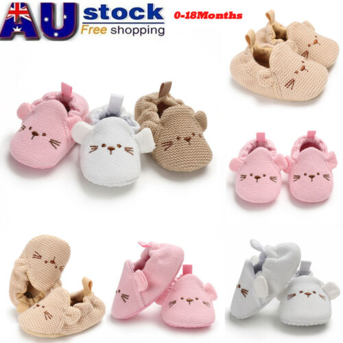 Infant Toddler Baby Boy Girl Soft Sole Cute Bear Crib Shoes PU Sneaker Prewalker  Sapatos Baby Shoes 0-18M