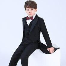 4ea9beaa1a97 Del bambino I Vestiti Dei Ragazzi Smoking per il Ragazzo 2019 Giacca  Monopetto Giacche per I Bambini Del Ragazzo Vestito Da Ceri.