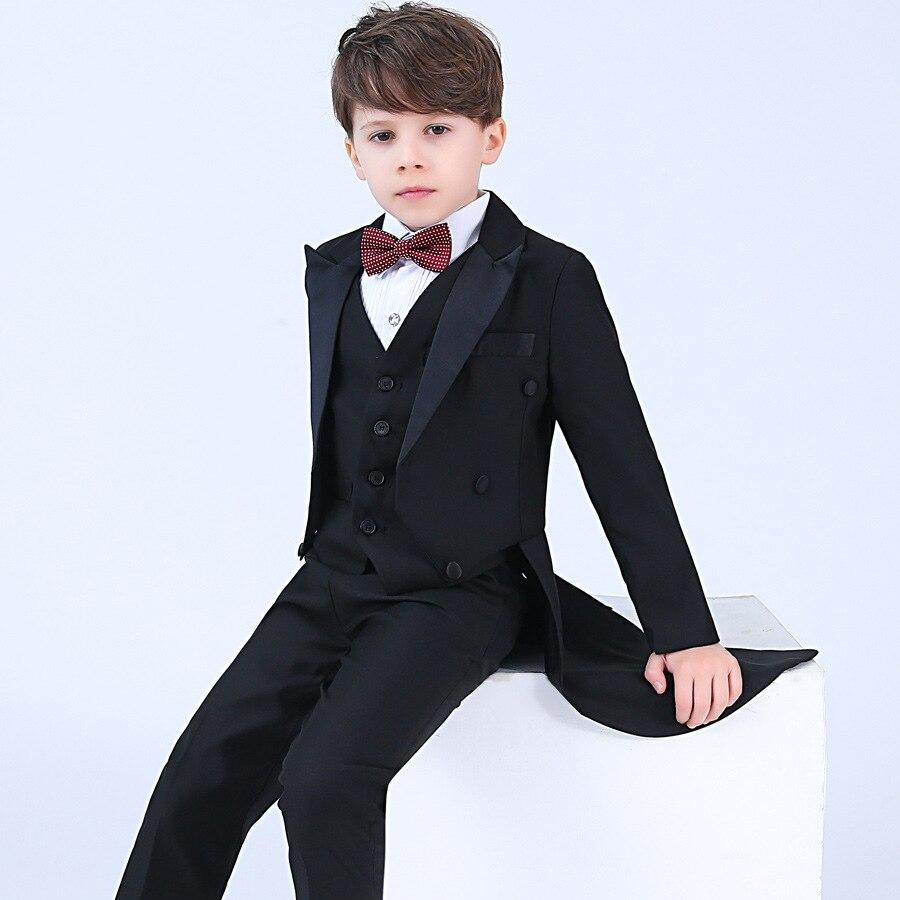 Trajes de bebé para niños esmoquin para niño 2019 chaqueta de un solo pecho Blazers para niño niños traje Formal de boda ropa de algodón para niños ropa Mallas de bebé MILANCEL a rayas para bebés y niños leggings ajustados leggings coreanos para niñas