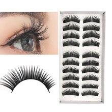10 Pairs New Fashion Women Soft Natural Long Cross Fake Eye Lashes Handmade Thick False Eyelashes Extension Beauty Makeup Tools