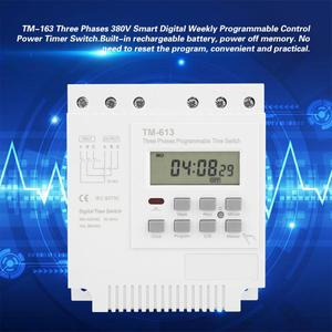 Image 2 - TM 163 Programmable Time Relay 3 Phases Time Switch 380V Digital Microcomputer Control Time Relay water pump timer switch White