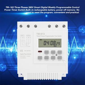 Image 2 - TM 163 programlanabilir zaman rölesi 3 fazlı zaman anahtarı 380V dijital mikrobilgisayar kontrolü zaman rölesi su pompası zamanlayıcı anahtarı beyaz