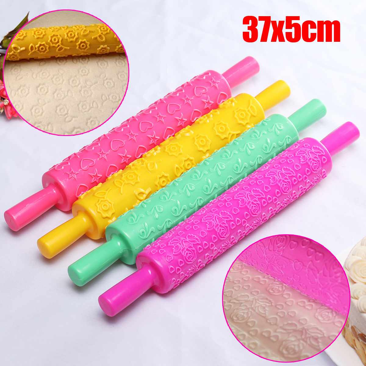 Top 10 Most Popular Plastic Cake Rolling Pin Pattern Ideas And Get