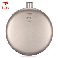 Keith 150ml Pure Titanium Liquor Hip Flask Funnel Portable Outdoor Wine Pot Bottle Corrosion resistant Lightweight Portable