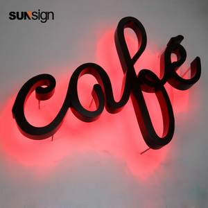 Fabricated indoor company hotel reverse back lit halo lit led channel letter sign