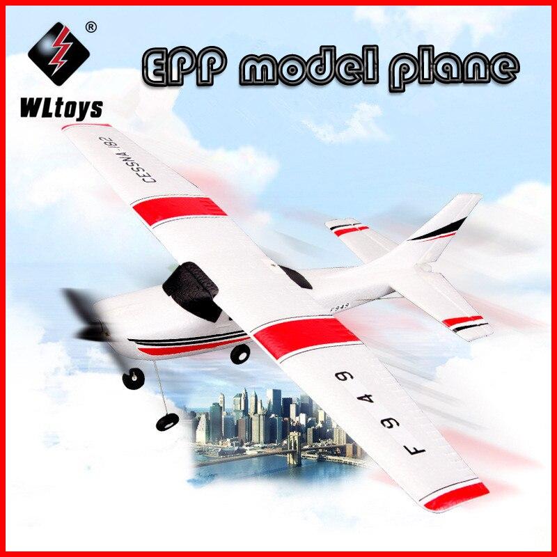 Wltoys F949 Sky King 2.4G RC Avião 3CH Fixo-asa de Avião de Rádio Controle RTF RC Avião de Asa Fixa avião VS WLtoys F929 ZLRC