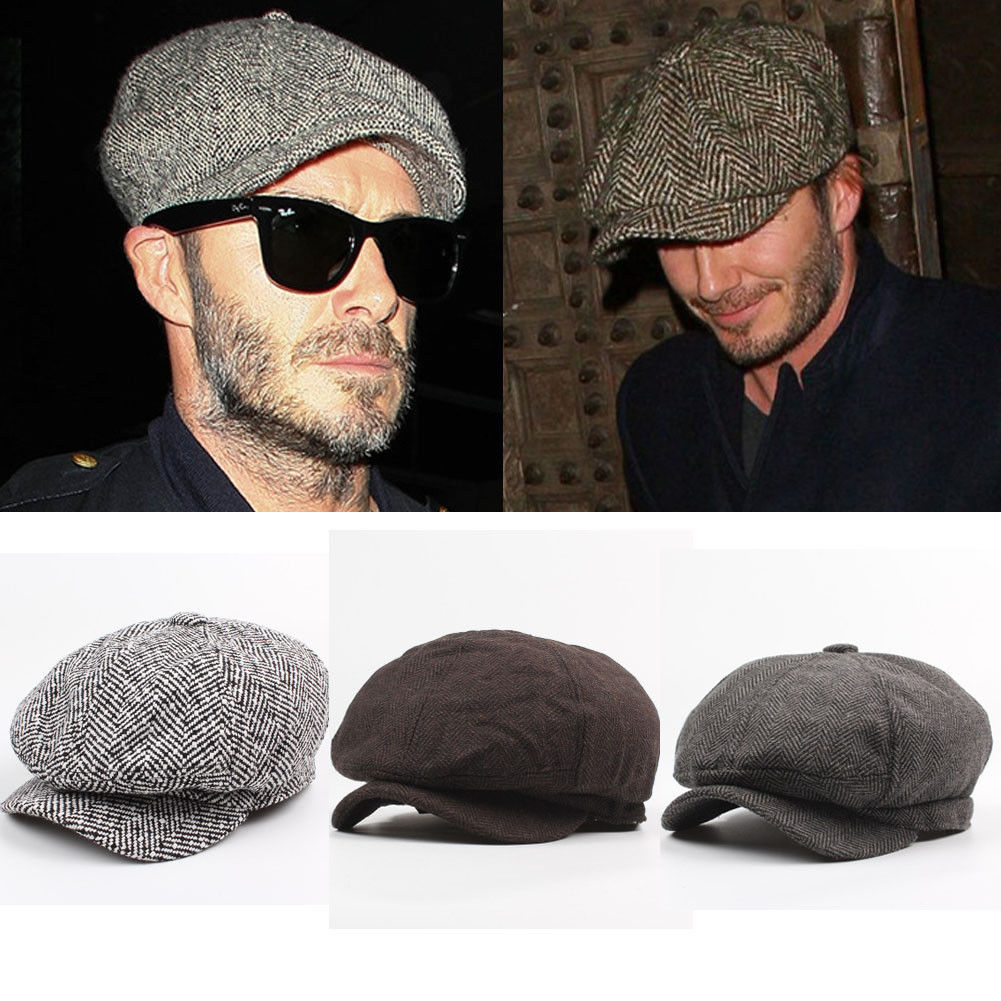 New Man Boy Gatsby Newsboy Cap Mens Ivy Hat Golf Driving Flat Tweed Cabbie Beret New