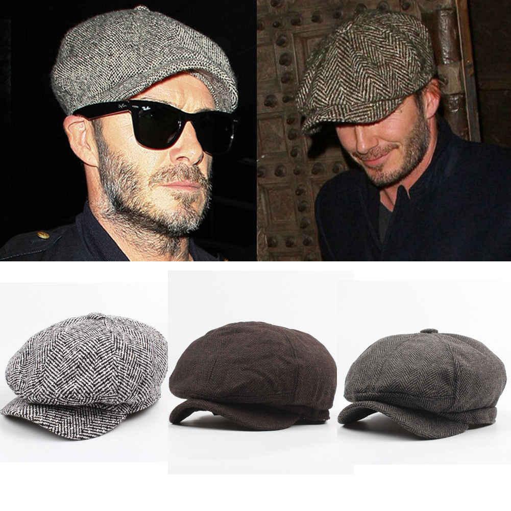 17c1da34f New Man Boy Gatsby Newsboy Cap Mens Ivy Hat Golf Driving Flat Tweed ...