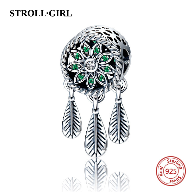 New arrival 925 sterling silver Dream catcher beads fit authentic Pandora charms bracelet fashion jewelry making for women gift in Beads from Jewelry Accessories