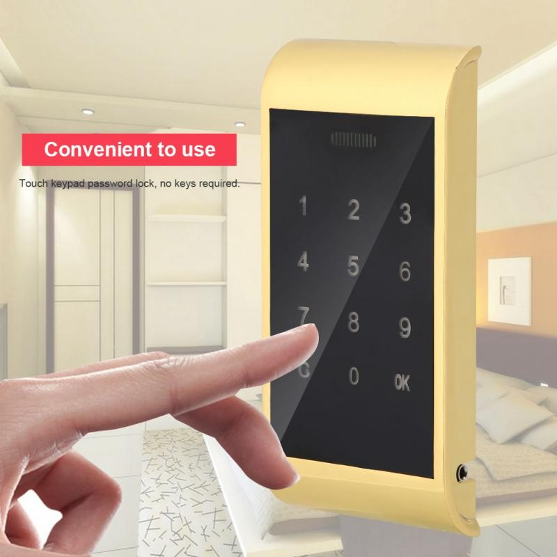 все цены на Electronic Digital Security Cabinet Code Lock Touch Keypad Password Key Access онлайн