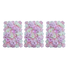 Комплект из 3 предметов стена из искусственных цветов панели свадебное украшение места 60x40 см
