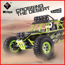 High Quality WLtoys 12428 2.4G 1/12 4WD Crawler RC Car 1:12 Electric four-wheel drive Climbing RC Car With LED Light RTR ZLRC 2017 rovan 1 5 baja lt 4wd rc car 29cc engine four bolt fixed 2t gasoline four wheel drive powerful than losi 5ive t