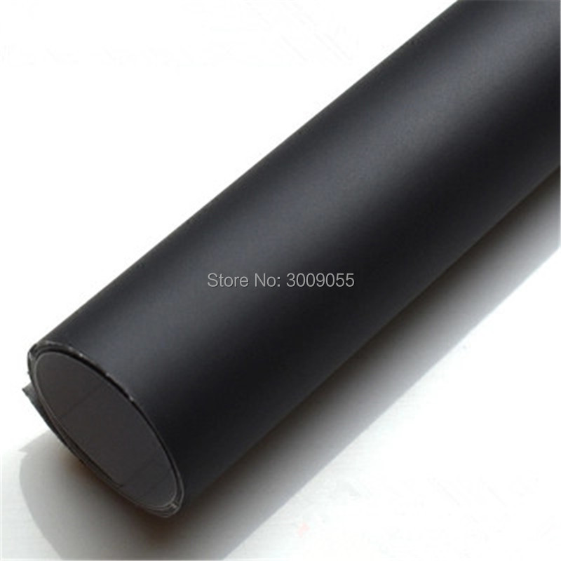 Noir Mat Enveloppe de Vinyle avec Bulle D'air Libre Mat Noir Feuille De Voiture Wrap Film Véhicule Autocollant Comme 1.52x30 m/Rouleau - 2