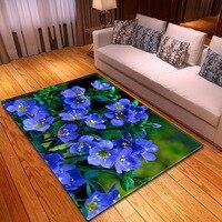 Persian Ethnic Mandala Flowers European Floral Rectangle Carpets for Living Room Bedroom Area Rug Parlor Decorative Carpet tapis