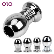 OLO Hollow Anal Plug Anal Dilator โลหะ Peep ช่องคลอด(China)