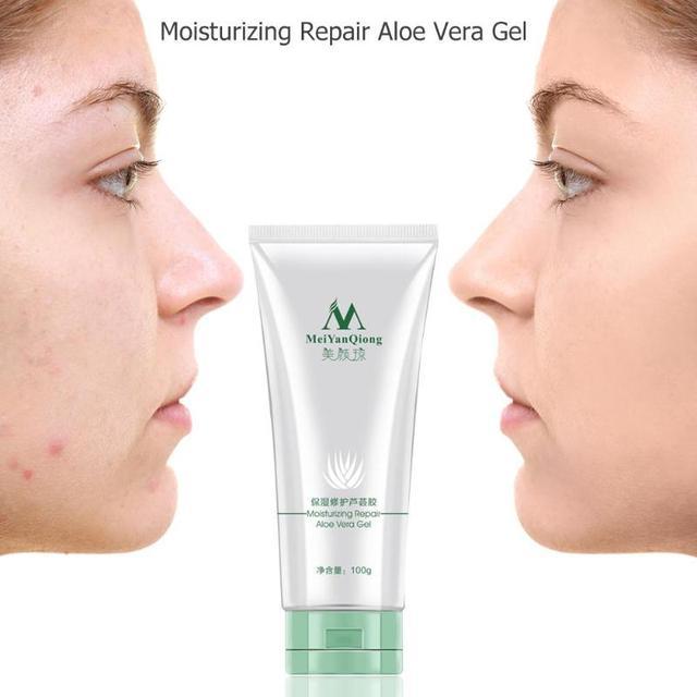 100g reparación humectante Gel de Aloe Vera cuidado de la piel Extracto de plantas naturales tratamiento Tratamiento suave cuidado de la cara Base de maquillaje crema