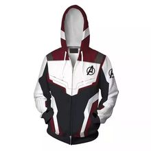 все цены на Hoodie Cosplay Avengers 4 Endgame Quantum Realm Sweatshirt Iron Man Jacket Advangers End Game Sets Tech Costumes 2019 Superhero