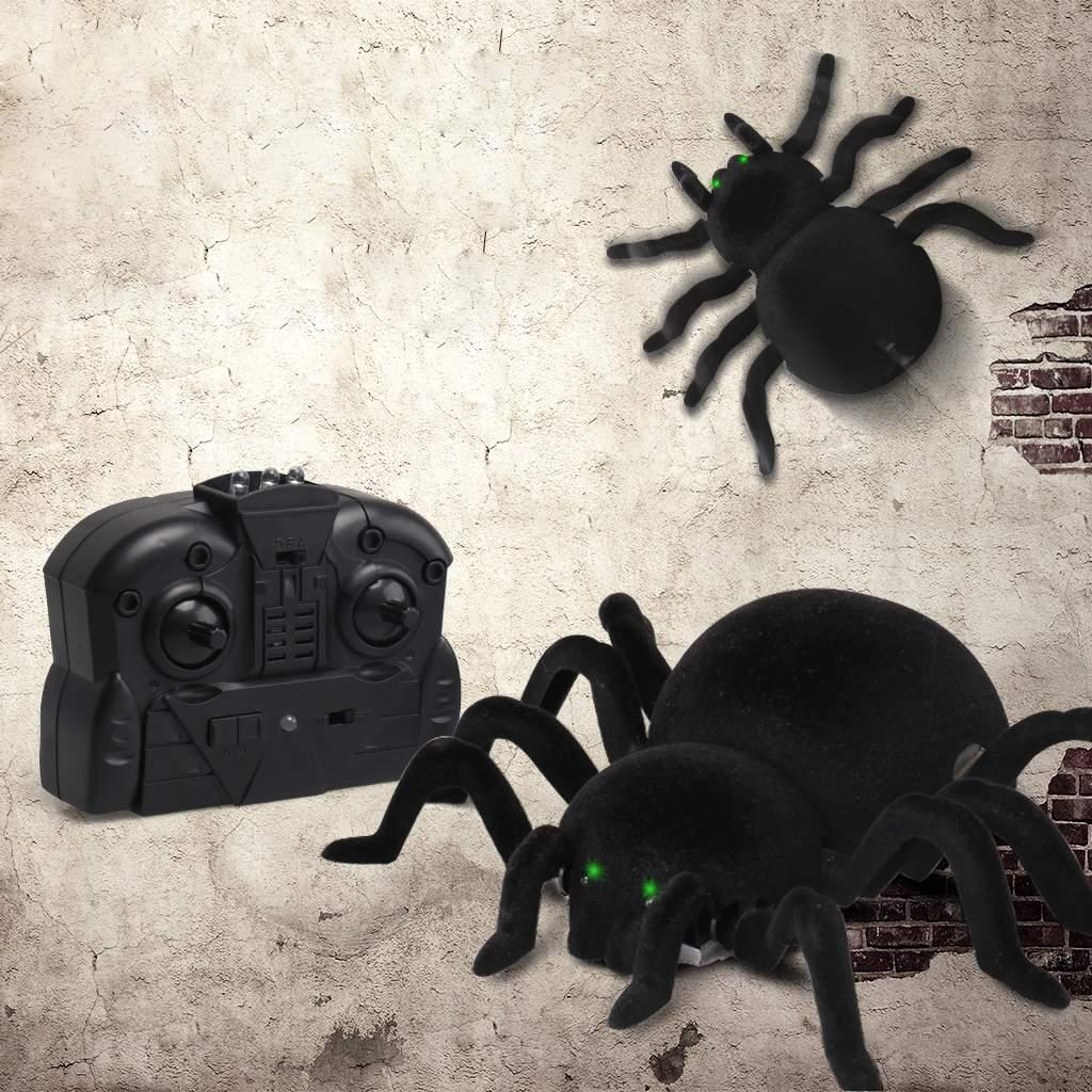 Electric Remote Control Spider Rechargeable Climbing Moving Animal Toy Above 3 years old 6 x AAA battery included Yes